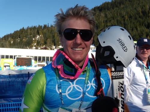 Ted Ligety face shot